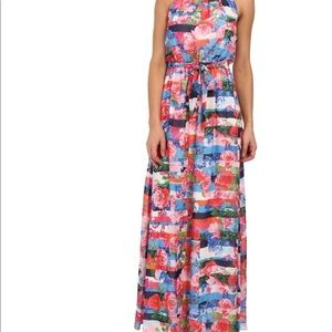 Jessica Simpson Floral Halter Maxi Dress